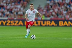 8 JUNE 2018, POZNAN, POLAND: INTERNATIONAL FRIENDLY GAME - POLAND vs. CHILE o/p Maciej Rybus stock images