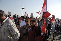 30 June Protests Against Morsi & Muslim Brotherhoo Stock Photography