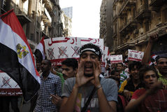 30 June Protests Against Morsi & Muslim Brotherhoo Stock Photo