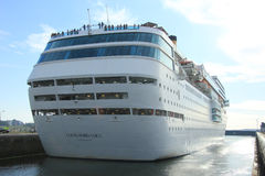 June 13rd, 2014. IJmuiden: Costa Neo Romantica in dock on journe Royalty Free Stock Photography