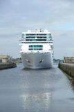 June 13rd, 2014. IJmuiden: Costa Neo Romantica in dock on journe Royalty Free Stock Images
