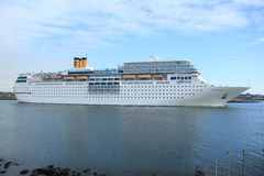 June 13rd, 2014. IJmuiden: Costa Neo Romantica on North Sea Cana Royalty Free Stock Photography