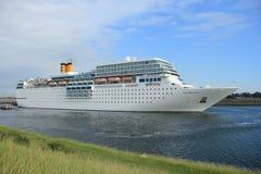 June 13rd, 2014. IJmuiden: Costa Neo Romantica on North Sea Cana Stock Photos
