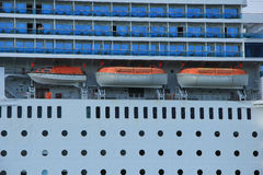 June 13rd, 2014. Velsen: Costa Neo Romantica detail of ship Stock Photos