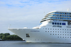June 13rd, 2014. Velsen: Costa Neo Romantica on North Sea Canal Royalty Free Stock Images