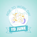 19 june  Ride to Work Day Royalty Free Stock Photography