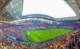 June 2018, Russian Federation, Republic of Tatarstan, Kazan, Arena football stadium. FIFA World Cup Russia 2018 royalty free stock image