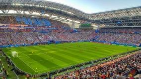 June 2018, Russian Federation, Republic of Tatarstan, Kazan, Arena football stadium. FIFA World Cup Russia 2018 stock photography
