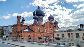 June 2018, Russian Federation, Tatarstan, Kazan. Museum of old believers in the intercession Cathedral of  Russian Orthodox Chu. June 2018, Russian Federation stock image