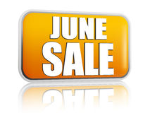 June sale yellow banner Royalty Free Stock Photos