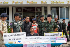 On June 25, 2015, soldiers and Police Patrol. Sakon Nakhon, Thai Stock Photography