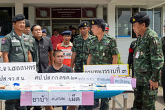 On June 25, 2015, soldiers and Police Patrol. Sakon Nakhon, Thai Stock Image