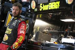 NASCAR: June 22 TOYOTA/SAVE MART 350. June 22, 2018 - Sonoma, California , USA: June 22, 2018 - Sonoma, California , USA: Martin Truex, Jr 78 gets ready to take Royalty Free Stock Photos
