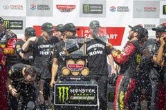 NASCAR: June 24 TOYOTA/SAVE MART 350. June 24, 2018 - Sonoma, California , USA: Martin Truex, Jr 78 wins the TOYOTA/SAVE MART 350 at Sonoma Raceway in Sonoma Royalty Free Stock Image