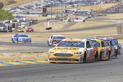 NASCAR: June 24 TOYOTA/SAVE MART 350. June 24, 2018 - Sonoma, California , USA: Trevor Bayne 6 Races through turn ten at the TOYOTA/SAVE MART 350 at Sonoma Stock Photos
