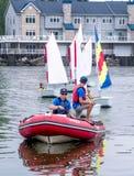 Sailing school on lake Michigan Stock Images