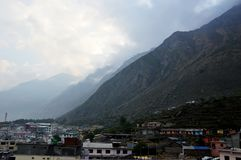 Village of hill stations in India. royalty free stock photo