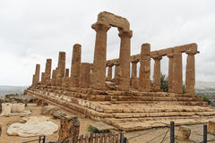 June Temple Agrigento Sicily Italy Royalty Free Stock Images