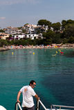 June 16th, 2017, Cala D`or, Mallorca, Spain - Starfish sea adventure boat ride arriving Stock Images