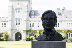 June 6th, 2017, Cork, Ireland - Cork College University,  bust of George Boole Royalty Free Stock Images