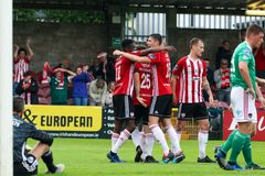 League of Ireland Premier Division match between Cork City FC vs Derry City FC. June 28th, 2019, Cork, Ireland - League of Ireland Premier Division match between royalty free stock photo