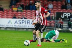 League of Ireland Premier Division match between Cork City FC vs Derry City FC. June 28th, 2019, Cork, Ireland - League of Ireland Premier Division match between royalty free stock image
