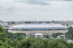2018 June 14th Moscow, Russia. First match of FIFA 2018 World Fo royalty free stock images