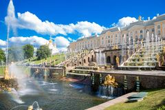 June 19th 2018. Peterhof, St Petersburg , Russia. The former Im. Perial country residence royalty free stock image