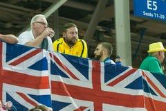 World Wheelchair Basketball Championship final. June 16, 2017 - Toronto, Ontario, Canada – Head Coach of Australia Luke Brennan yellow during the stock image