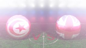Tunisia vs England. 2018 FIFA World Cup. Original 3D video. June 18, Tunisia versus England2018 FIFA World Cup. Original 3D video. Two balloons above a soccer stock footage