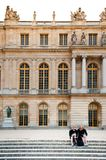 Palace of Versailles on the palace`s garden side. Royalty Free Stock Images