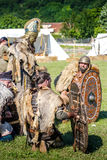 10-11 June 2017. Vienne, France. Gallo-Roman Days historic festival. Dacians from Terra Dacica Aeterna groupe, in the historic roman festival in Vienne, France Stock Photography