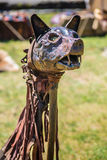 10-11 June 2017. Vienne, France. Gallo-Roman Days historic festival. Dacians war flag, the wolf head, in the historic roman festival in Vienne, France Stock Photo
