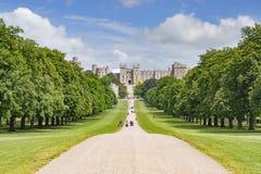 The Long Walk and Windsor Castle Windsor London UK
