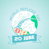 20 june world  refugee  day. Calendar for each day on june Royalty Free Stock Photos