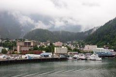 Juneau Alaska. Downtown harbor in juneau alaska Royalty Free Stock Images