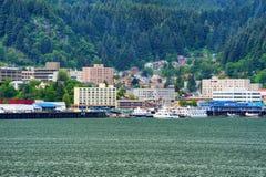 Juneau Alaska e Manica di Gastineau immagine stock