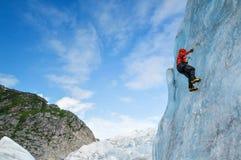 Juneau, Alaska. Ice climbing on the Mendenhall glacier stock photo