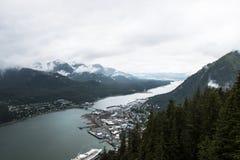 Juneau Alaska landskap Royaltyfri Bild