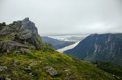 Juneau Alaska mountains Stock Photos