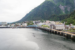 Juneau Alaska from the Sea Royalty Free Stock Images