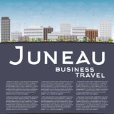 Juneau (Alaska) Skyline with Grey Building and Blue Sky Royalty Free Stock Photos