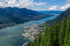 Juneau Alaska und Gastineau-Kanal Lizenzfreie Stockfotografie