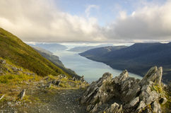 Juneau-Bucht, Alaska Stockfotos