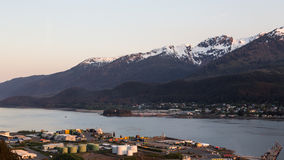 Juneau and Douglas, Alaska. View of the mountains and forests surrounding Juneau and Douglas Stock Photo