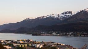 Juneau en Douglas, Alaska Stock Foto