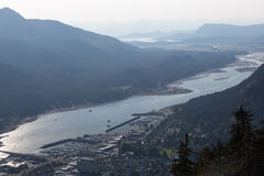 Juneau and the Gastineau Channel Royalty Free Stock Images