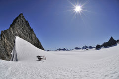 Juneau Ice Fields. Helicopters at 6000 feet above sea level on the Juneau Ice Fields Stock Photos
