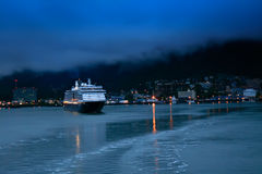Juneau At Night Royalty Free Stock Photo