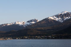 Juneau's Mountains. View of the mountains surrounding Juneau, Alaska Royalty Free Stock Photo